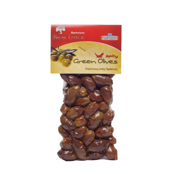 green spicy olives magna gracia