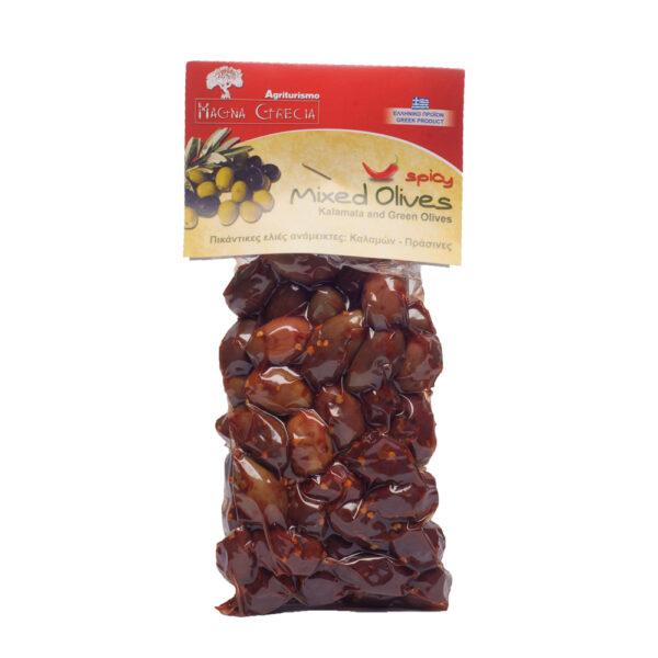 mixed spicy olives magna gracia